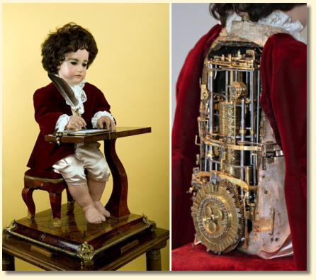Jaquet Droz's The Writer automaton (1774) that wrote words with a quill pen