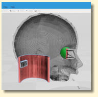 Designing the inside of Florence's head on 3D Builder