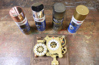 I'd recommend using copper, silver, black and brass spray paints to decorate your Chronograph