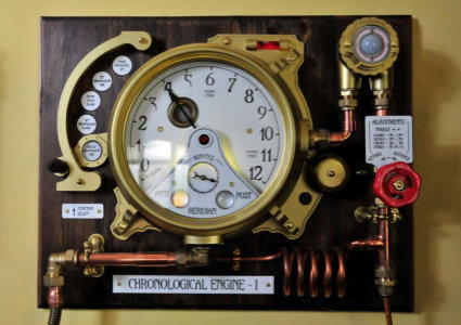 Chronological Engine a steampunk clock with many functions