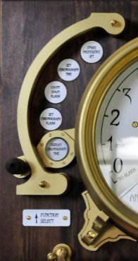 The steampunk clock function control knob