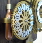 Intricate hour display and gas cylinder on the steampunk Chronograph