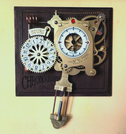 The steampunk Chronograph pendulum clock