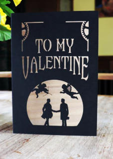 Valentines his & his greetings card