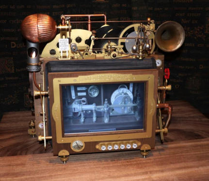 The Epizoescope moving picture machine and sound horn