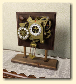 The Chronograph on the optional stand as a mantel clock